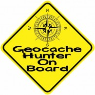 Autocollant réfléchissant pour véhicule - Geocache Hunter On Board