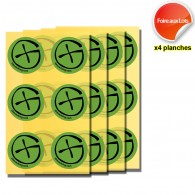 Stickers Geocaching Ronds - 4 planches de 6