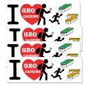 Stickers I Love GC - Lot de 4