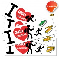 Stickers I Love GC - Lot de 20