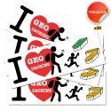 Stickers I Love GC - Lot de 20