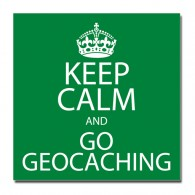 Sticker Keep Calm and Go Geocaching