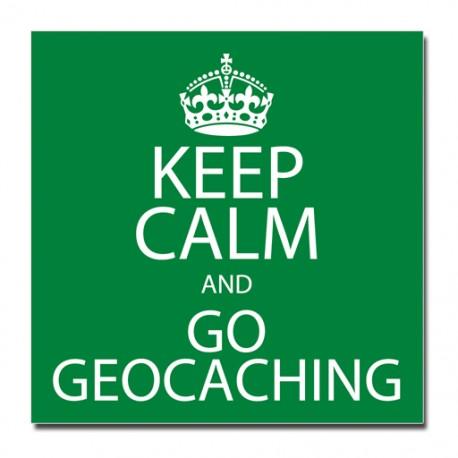 Sticker Keep Calm and Go Geocaching
