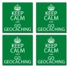 Stickers Keep Calm and Go Geocaching - Lot de 4