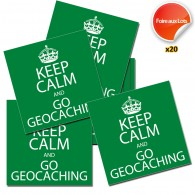 Stickers Keep Calm and Go Geocaching - Lot de 20