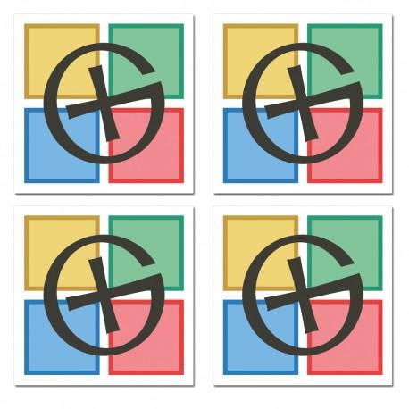 Stickers Logo GC - Lot de 4