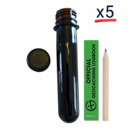 Kit Pet Tube FTF Noir - Lot de 5