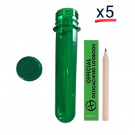 Kit Pet Tube FTF Vert - Lot de 5