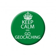 Badge Keep Calm and Go Geocaching