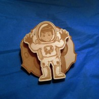 Wooden Spinner Geocoin Collection - The Astronaut (LE 30)