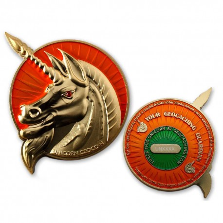 Unicorn - Geocaching Guardian Geocoin Special Gold Edition