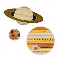 Solar System Geocoin Set - Mars, Jupiter, Saturn