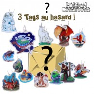 Hidden Creatures - Lot de 3 Travel Tags aléatoires