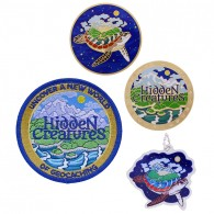 Pack Hidden Creatures - Full Size Geocoin and Trackable Tag Set + Patch
