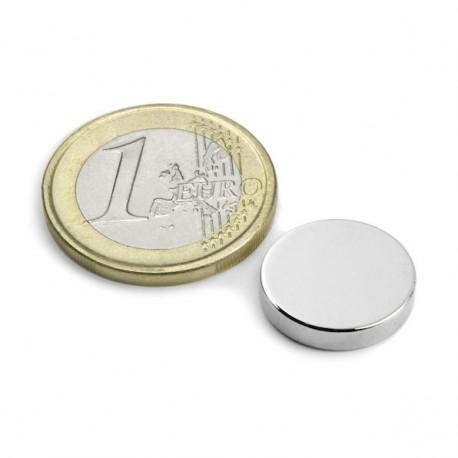 Magnets Disque 15x3mm - Lot de 2