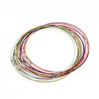 Câble acier à visser 46cm (Mix Couleur) - Lot de 5