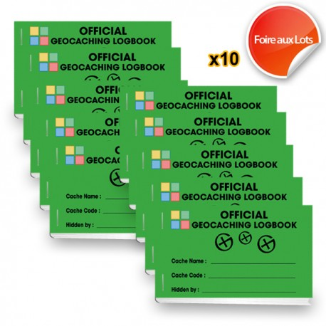 Logbook SMALL caches X10