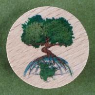 Géocoin en bois - TREE SPIRIT