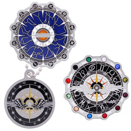 Zodiac Final Geocoin and Trackable Tag Set
