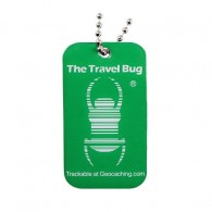 GREEN Geocaching QR Travel Bug® - Glow in the Dark