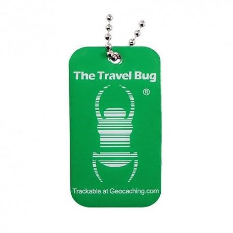 GREEN Geocaching QR Travel Bug® - Glow in the Dark