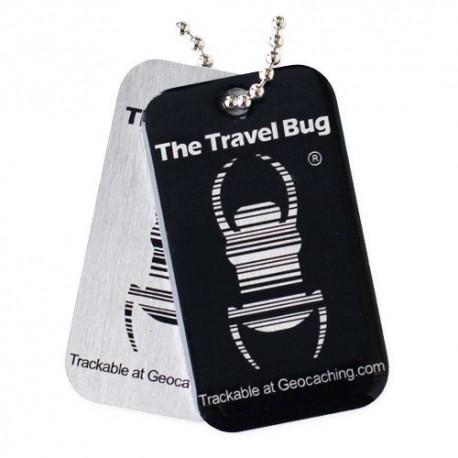 BLACK Geocaching QR Travel Bug® - Glow in the Dark