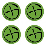 Stickers Geocaching Ronds - Lot de 4