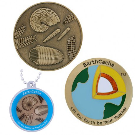 Official EarthCache™ Geocoin and tag set