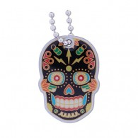 Día de Muertos Travel Tag - Black Edition