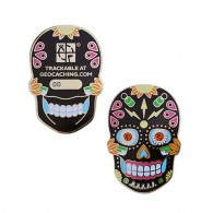 Día de Muertos Geocoin - Black Edition (Glow in the Dark)