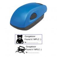 Tampon 38x14mm - Stamp Mouse 20 Bleu