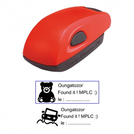 Tampon 38x14mm - Stamp Mouse 20 Rouge