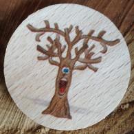 Géocoin en bois - SCARY TREE