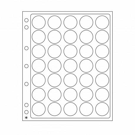 Lot de 2 Feuilles en plastique ENCAP - Pour 35 badges ou Wood Geocoins
