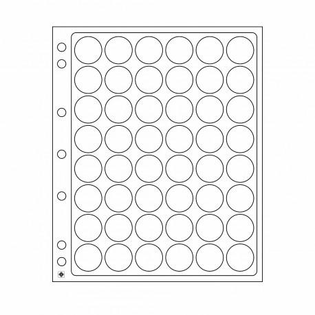 Lot de 2 Feuilles en plastique ENCAP - Pour 48 badges ou capsules