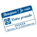 Badge Pseudo GC traçable personnalisé - BLANC/BLEU