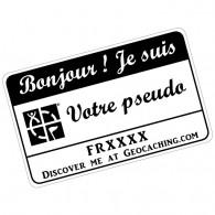 Badge Pseudo GC traçable personnalisé - BLANC/NOIR