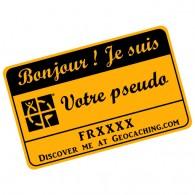 Badge Pseudo GC traçable personnalisé - OCRE/NOIR