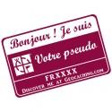 Badge Pseudo GC traçable personnalisé - BOURGOGNE/BLANC