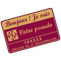 Badge Pseudo GC traçable personnalisé - BOURGOGNE/OR
