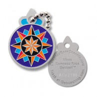 Travel Tag Compass Rose Bleu