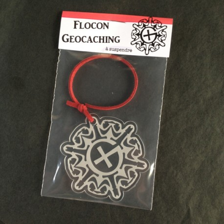 Flocon Geocaching à suspendre