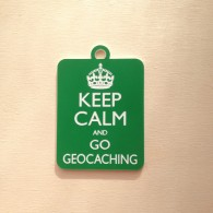 Breloque Keep Calm and Go Geocaching - Vert pomme
