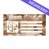 X-Large Cache Label - Desert Camo