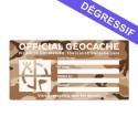 X-Large Cache Label - Desert Camo