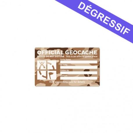 Large Cache Label - Desert Camo