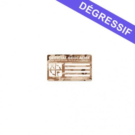 Medium Cache Label - Desert Camo