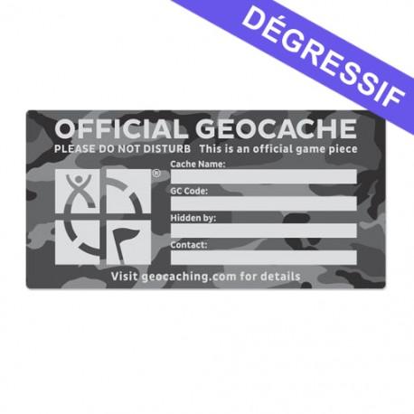 X-Large Cache Label - Urban Camo