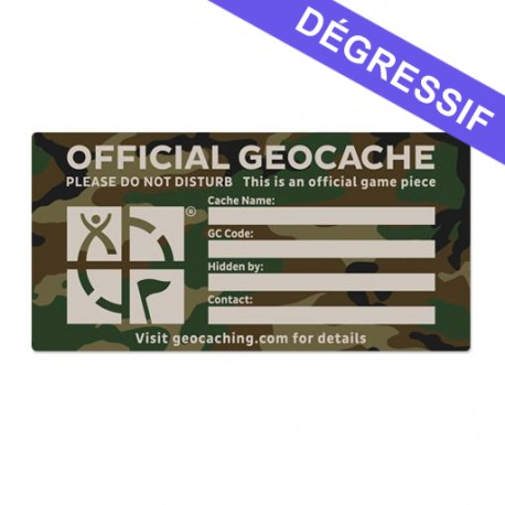 X-Large Cache Label - Green Camo