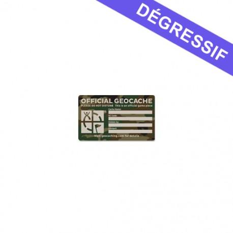 Medium Cache Label - Green Camo